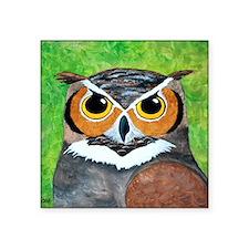 "owl painting Square Sticker 3"" x 3"""