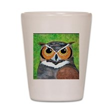 owl painting Shot Glass