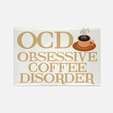 obsessivecoffeedisorderwh Rectangle Magnet