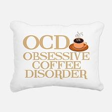 obsessivecoffeedisorderw Rectangular Canvas Pillow
