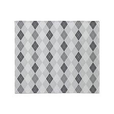 McKinley Gray Argyle Pattern Throw Blanket