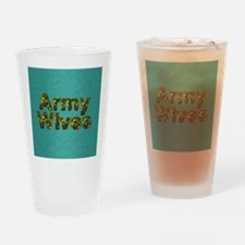 armywivessq Drinking Glass