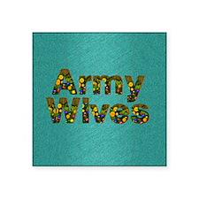 "armywivessq Square Sticker 3"" x 3"""