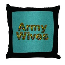 armywivessq Throw Pillow