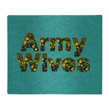 armywivessq Throw Blanket