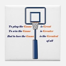 Basketball Love the Game Tile Coaster