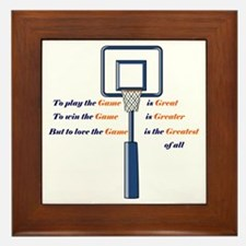 Basketball Love the Game Framed Tile
