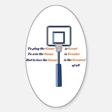 Basketball Love the Game Oval Decal
