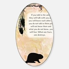 nativeamerican_journal_beaver Decal