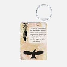 nativeamerican_journal_eag Keychains