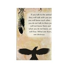 nativeamerican_journal_eagle Rectangle Magnet