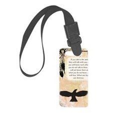 nativeamerican_journal_eagle Luggage Tag