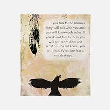 nativeamerican_journal_eagle Throw Blanket