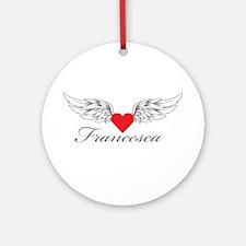 Angel Wings Francesca Ornament (Round)