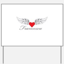 Angel Wings Francesca Yard Sign