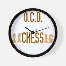 obsessivechessdisorderwh Wall Clock