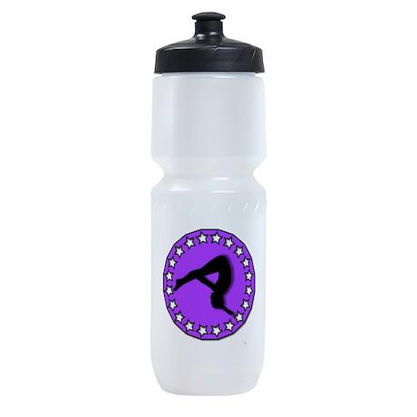 Gymnast in Purple Sports Bottle