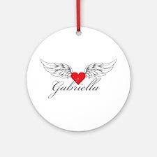 Angel Wings Gabriella Ornament (Round)