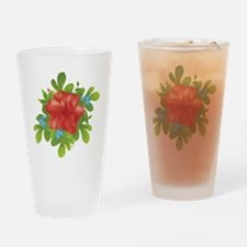 Red Hybiscus Drinking Glass