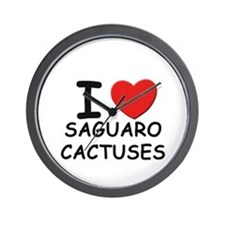 I love saguaro cactuses Wall Clock