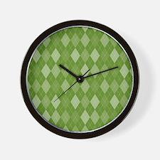 Madison Green Argyle Pattern Wall Clock