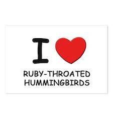 I love ruby-throated hummingbirds Postcards (Packa
