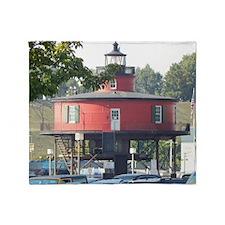 Baltimore Lighthouse Throw Blanket