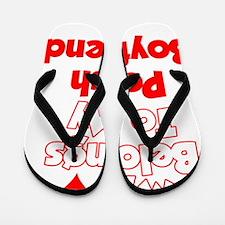 My Heart Belongs To My Polish Boyfriend Flip Flops