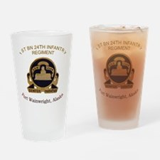 1st bn 24th INF Drinking Glass