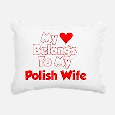 My Heart Belongs To My P Rectangular Canvas Pillow
