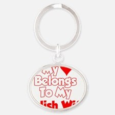 My Heart Belongs To My Polish Wife S Oval Keychain