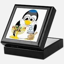 Hanukkah-Penguin-Scarf Keepsake Box