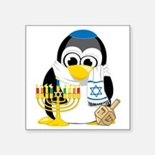 "Hanukkah-Penguin-Scarf Square Sticker 3"" x 3"""