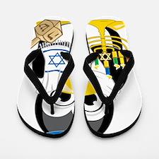 Hanukkah-Penguin-Scarf Flip Flops