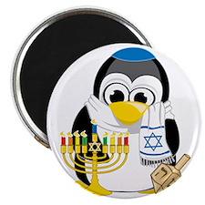 Hanukkah-Penguin-Scarf Magnet