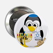 "Hanukkah-Penguin-Scarf 2.25"" Button"