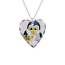 Hanukkah-Penguin-Scarf Necklace