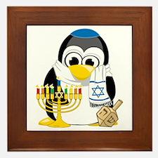 Hanukkah-Penguin-Scarf Framed Tile
