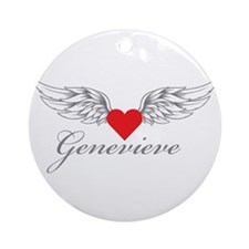 Angel Wings Genevieve Ornament (Round)