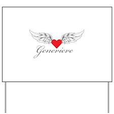 Angel Wings Genevieve Yard Sign
