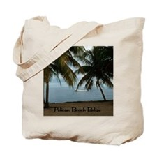 2-Pelican Beach Belize200 writing16x20 Tote Bag