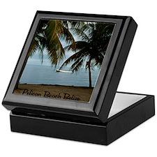 2-Pelican Beach Belize200 writing16x2 Keepsake Box