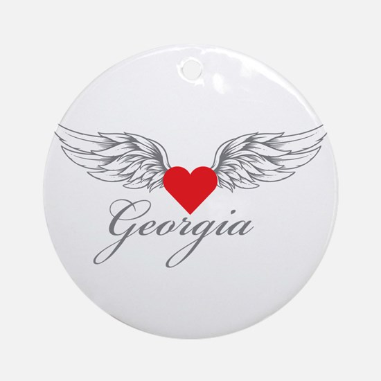 Angel Wings Georgia Ornament (Round)
