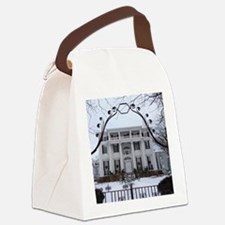 Linden Place in winter Canvas Lunch Bag