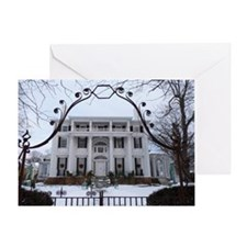 Linden Place in winter Greeting Card