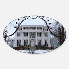 Linden Place in winter Sticker (Oval)