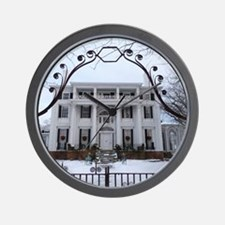 Linden Place in winter Wall Clock