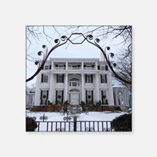 """Linden Place in winter Square Sticker 3"""" x 3"""""""