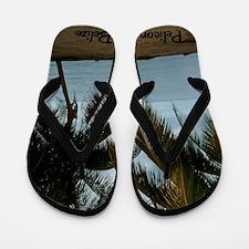 Pelican Beach Belize200 writing23x35 Flip Flops