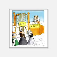 "Zeus1 Square Sticker 3"" x 3"""